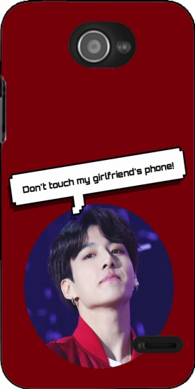 bts jungkook dont touch girlfriend phone case for Zte Blade Apex 2