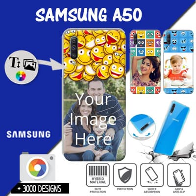 Custom Samsung Galaxy A50 silicone case