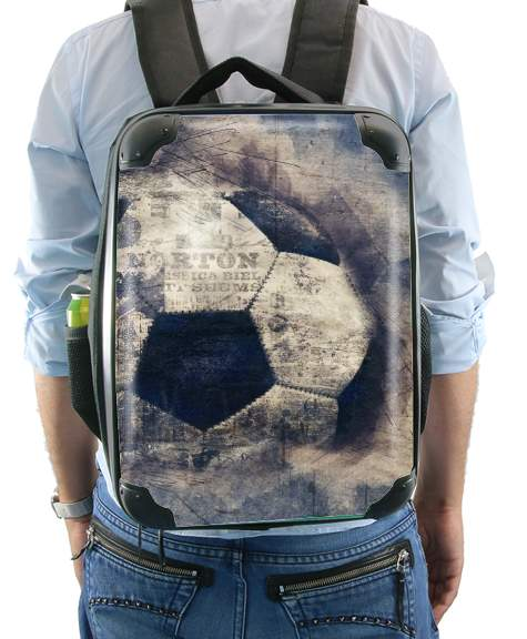 Abstract Blue Grunge Football for Backpack