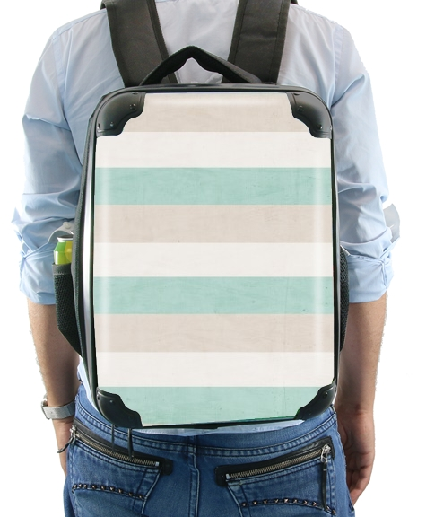 aqua and sand stripes for Backpack