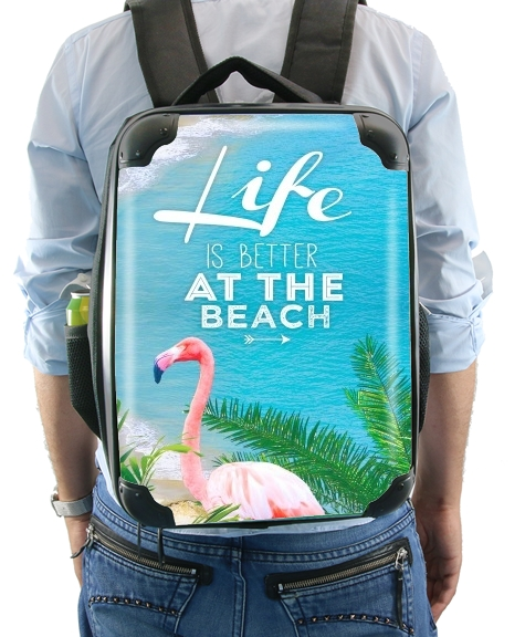 At the beach for Backpack