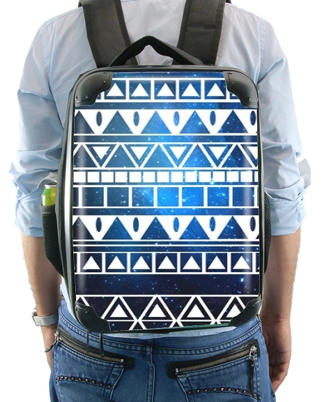 Tribal Aztec Pattern Blue for Backpack