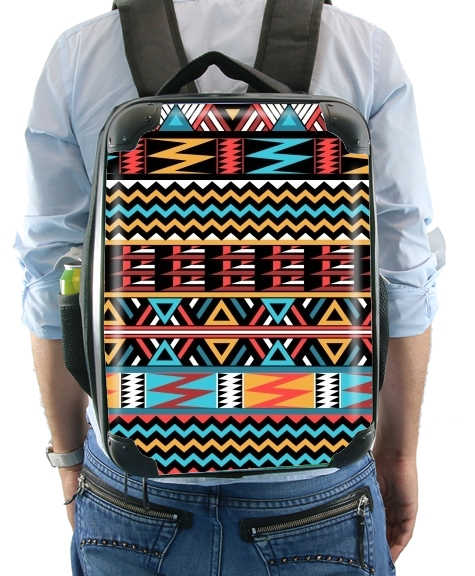 aztec pattern red Tribal for Backpack