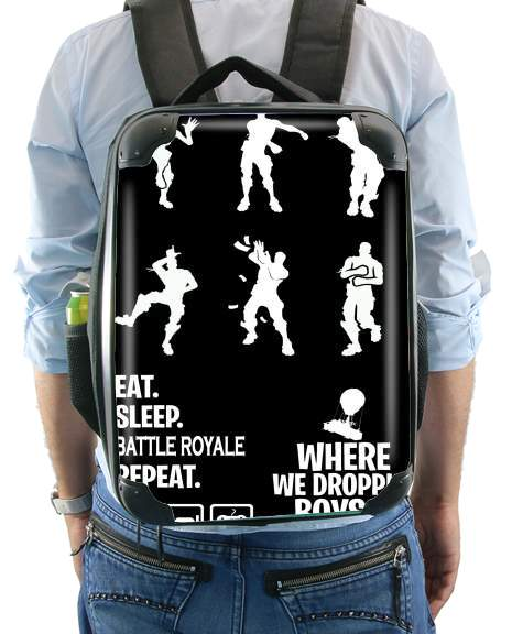 Battle Royal FN Eat Sleap Repeat Dance for Backpack