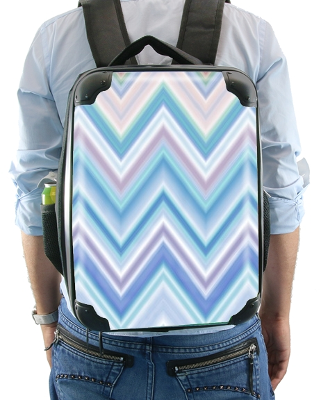 BLUE COLORFUL CHEVRON  for Backpack
