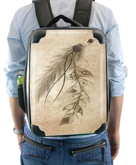 Boho Feather for Backpack