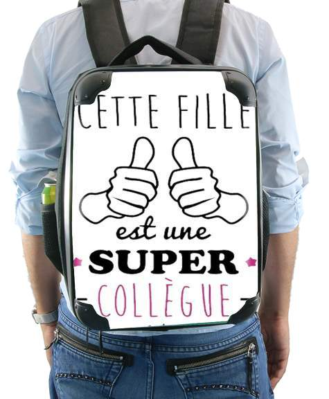 Cette Fille Est Une Super Collegue for Backpack