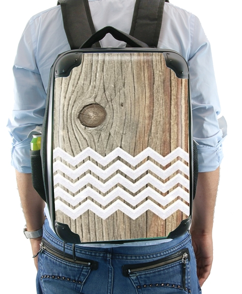 Chevron on wood for Backpack