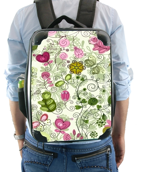 doodle flowers for Backpack