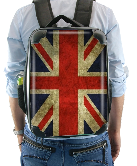 Old-looking British flag for Backpack