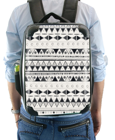 Ethnic Candy Tribal in Black and White for Backpack