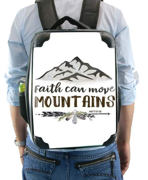 Faith can move montains Matt 17v20 Bible Blessed Art for Backpack