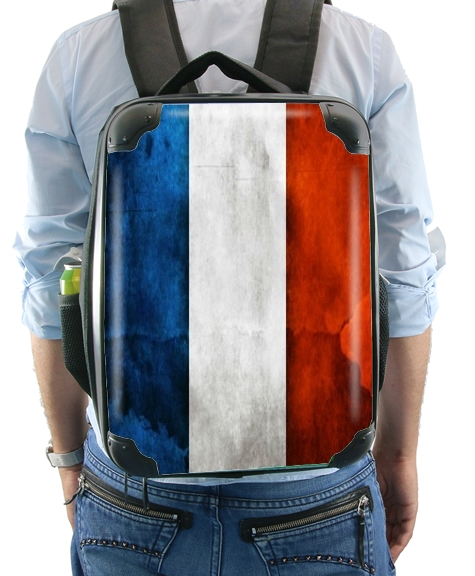 Flag France Vintage for Backpack
