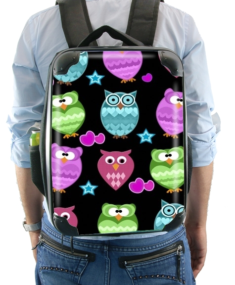 funky owls for Backpack