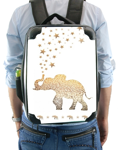 Gatsby Gold Glitter Elephant for Backpack