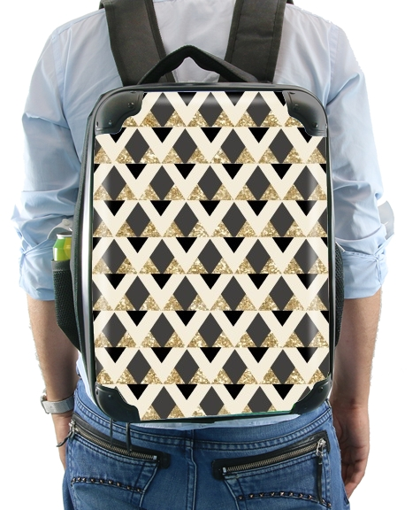 Glitter Triangles in Gold Black And Nude for Backpack