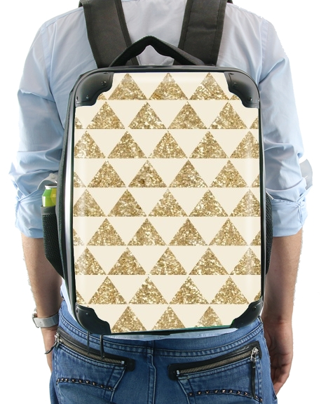 Glitter Triangles in Gold for Backpack