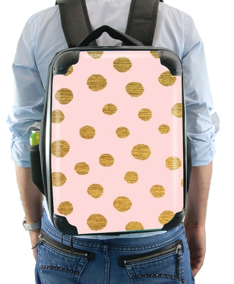 Golden Dots And Pink for Backpack