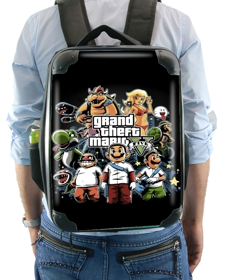 Grand Theft Mario for Backpack