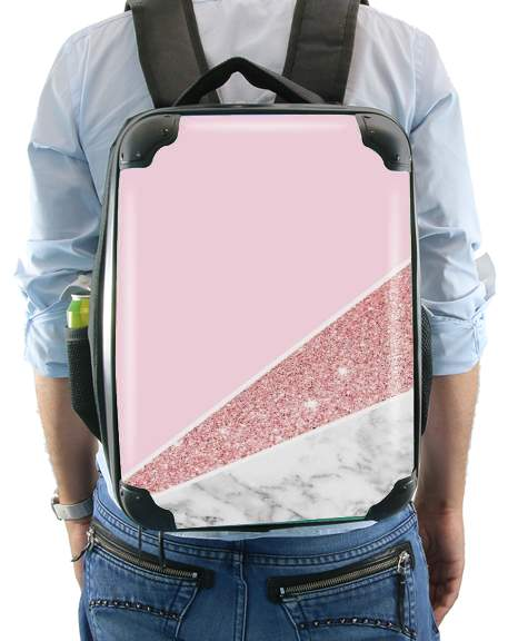 Initiale Marble and Glitter Pink for Backpack