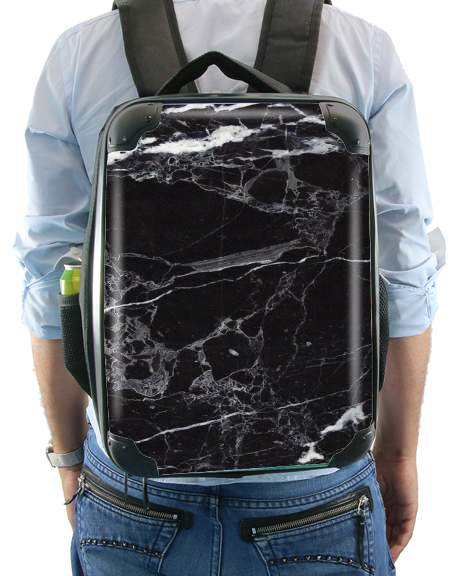 Initiale Marble Black Elegance for Backpack