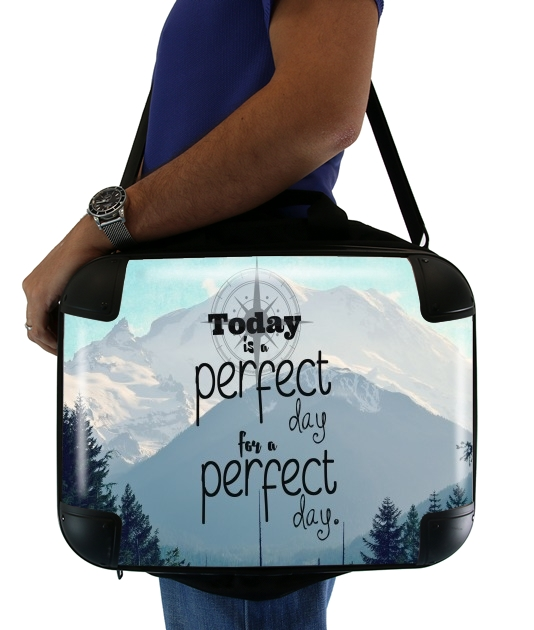 "A Perfect Day for Laptop briefcase 15"" / Notebook / Tablet"