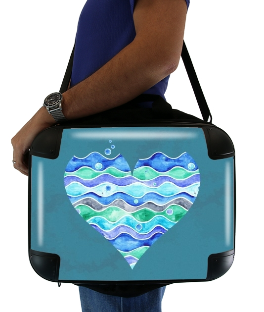 "A Sea of Love (blue) for Laptop briefcase 15"" / Notebook / Tablet"