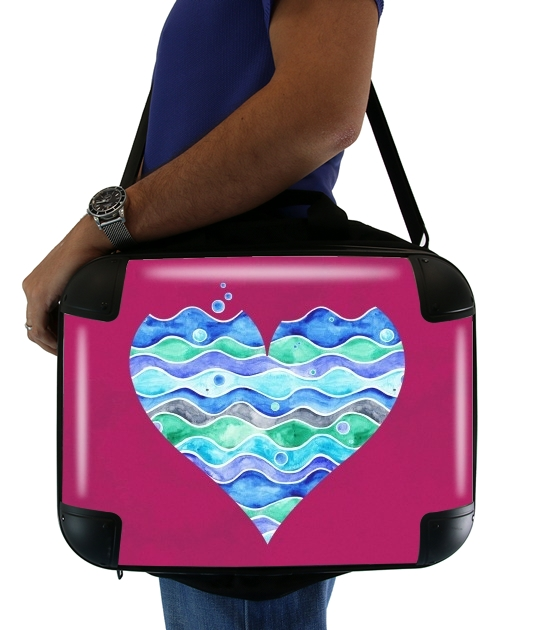 "A sea of Love (purple) for Laptop briefcase 15"" / Notebook / Tablet"