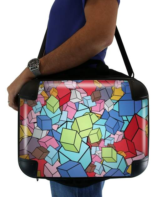 "Abstract Cool Cubes for Laptop briefcase 15"" / Notebook / Tablet"