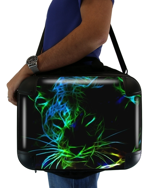 "Abstract neon Leopard for Laptop briefcase 15"" / Notebook / Tablet"