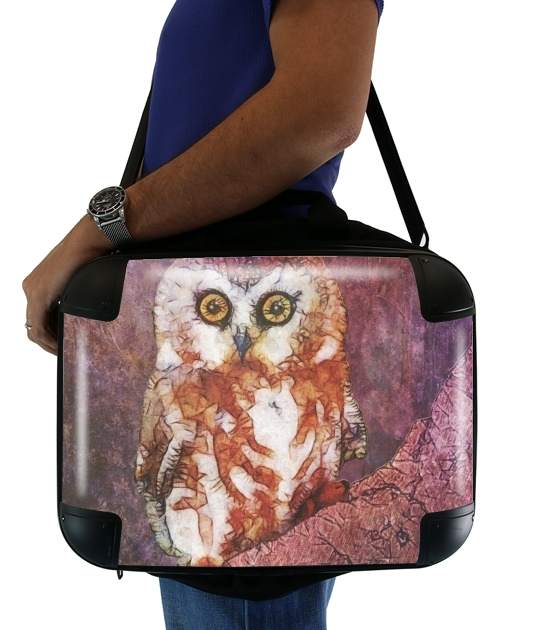 "abstract cute owl for Laptop briefcase 15"" / Notebook / Tablet"