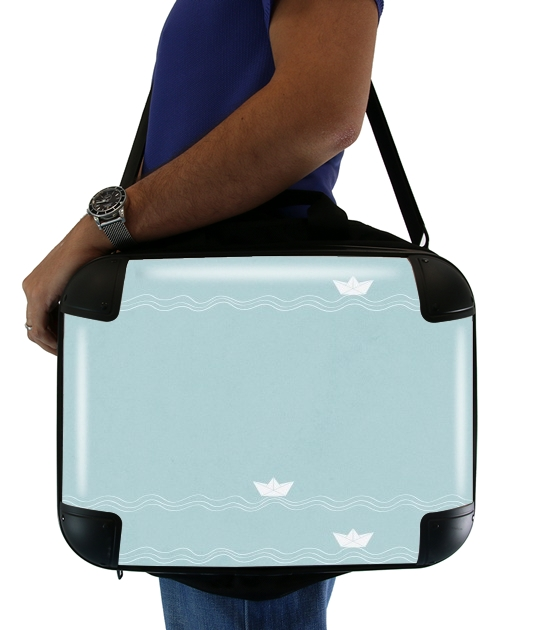 "Across the Wide Sea for Laptop briefcase 15"" / Notebook / Tablet"