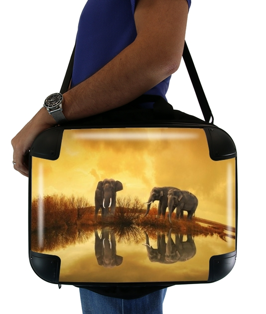 "African Style for Laptop briefcase 15"" / Notebook / Tablet"