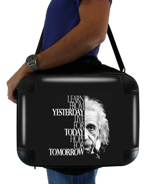 "Albert Einstein for Laptop briefcase 15"" / Notebook / Tablet"