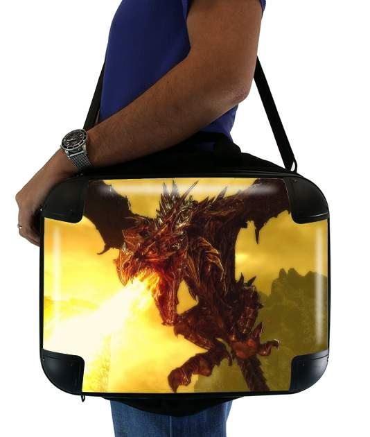 "Aldouin Fire A dragon is born for Laptop briefcase 15"" / Notebook / Tablet"