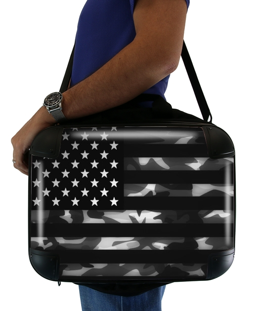 "American Camouflage for Laptop briefcase 15"" / Notebook / Tablet"