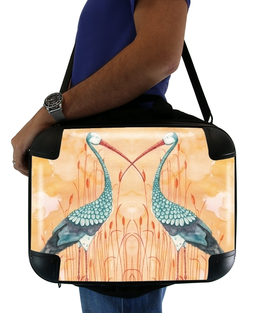 "An Exotic Crane for Laptop briefcase 15"" / Notebook / Tablet"