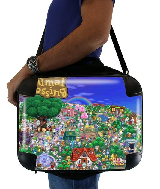 "Animal Crossing Artwork Fan for Laptop briefcase 15"" / Notebook / Tablet"