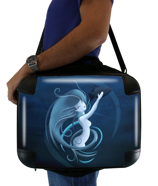 "Aquarius Girl  for Laptop briefcase 15"" / Notebook / Tablet"