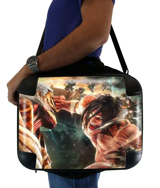 "Attack on titan - Shingeki no Kyojin for Laptop briefcase 15"" / Notebook / Tablet"