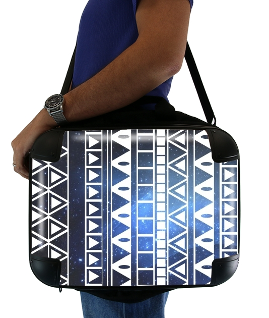 "Tribal Aztec Pattern Blue for Laptop briefcase 15"" / Notebook / Tablet"
