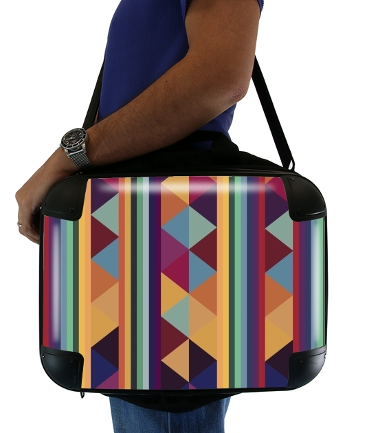 "Aztec Pattern Pastel for Laptop briefcase 15"" / Notebook / Tablet"