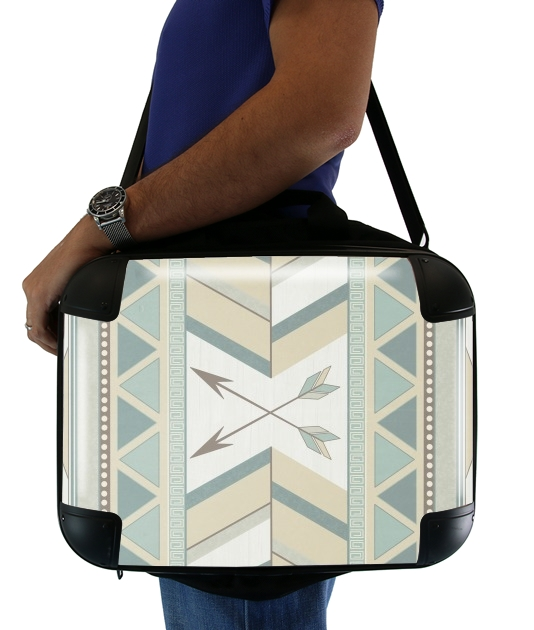 "Aztec Pattern  for Laptop briefcase 15"" / Notebook / Tablet"