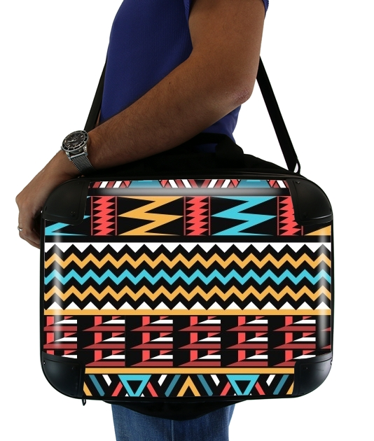 "aztec pattern red Tribal for Laptop briefcase 15"" / Notebook / Tablet"