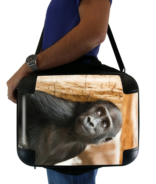 "Baby Monkey for Laptop briefcase 15"" / Notebook / Tablet"