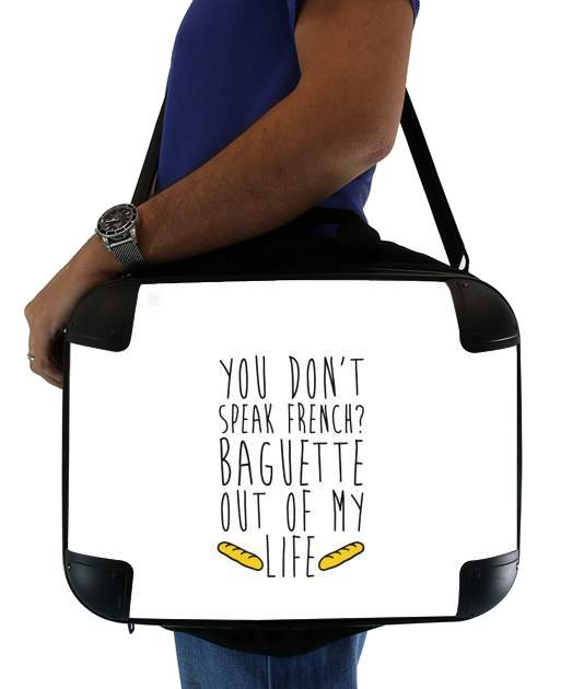 "Baguette out of my life for Laptop briefcase 15"" / Notebook / Tablet"