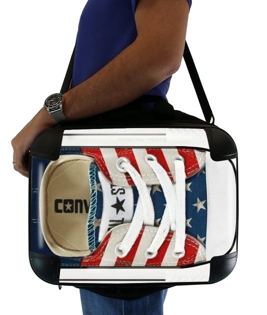 "All Star Basket shoes USA for Laptop briefcase 15"" / Notebook / Tablet"
