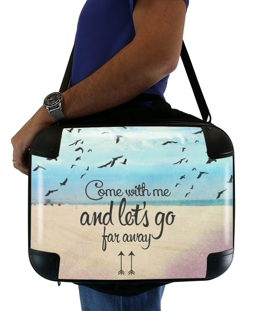 "Beach for Laptop briefcase 15"" / Notebook / Tablet"