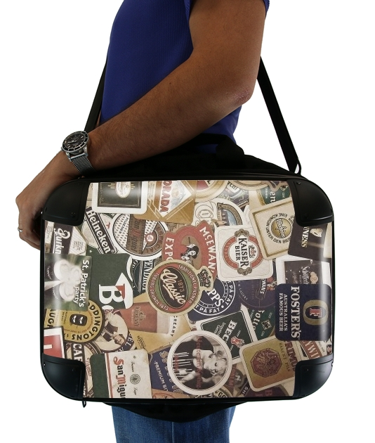 "Beers of the world for Laptop briefcase 15"" / Notebook / Tablet"