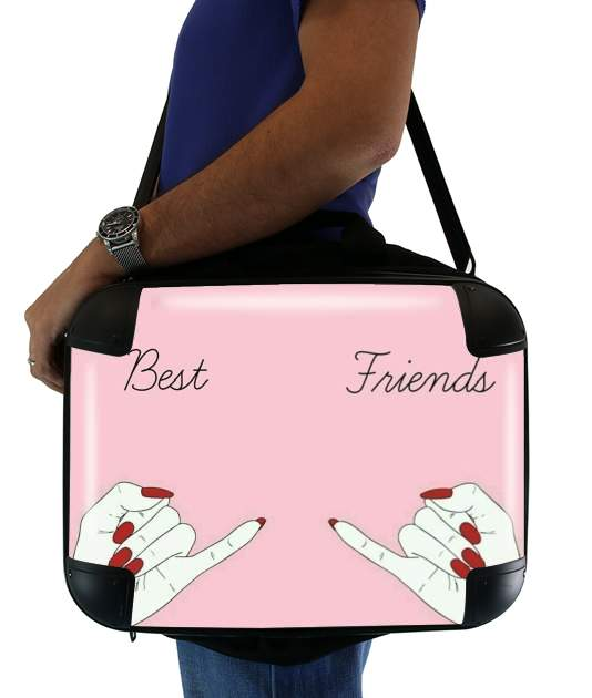 "BFF Best Friends Pink for Laptop briefcase 15"" / Notebook / Tablet"